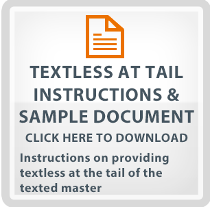 Textless At Tail Instructions And Sample